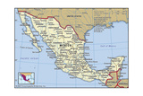 Map of Mexico Prints
