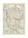 Map of North America and Central America Prints