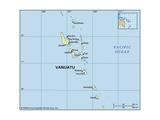 Map of Vanuatu Prints