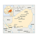 Map of Niger Posters