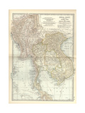 Map of Eastern India Prints