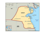Map of Kuwait Prints