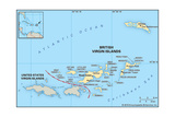 Map of British Virgin Islands Prints