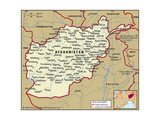 Map of Afghanistan Prints