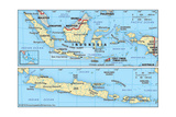 Map of Indonesia Poster