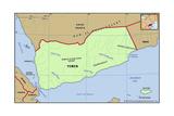 Map of Yemen Posters
