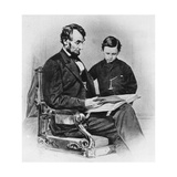 Abraham Lincoln with His Son Tad Prints