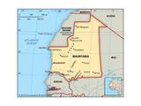 Map of Mauritania Plakat