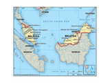 Map of Malaysia Prints