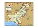 Map of Pakistan Prints