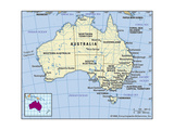 Map of Australia Art
