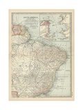 Map of the Eastern Part of South America Prints