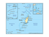Map of Palau Posters