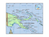 Map of Papua New Guinea Poster