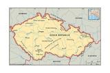 Map of Czech Republic Poster