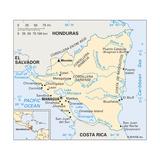 Map of Nicaragua Art