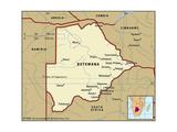 Map of Botswana Poster