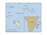 Map of Seychelles Prints