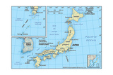 Map of Japan Prints