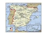 Map of Spain Prints