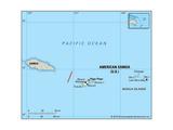 Map of American Samoa Art
