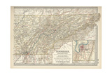 Map of Eastern Tennessee Poster