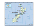 Map of New Zealand Posters