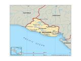 Map of El Salvador Posters