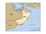 Map of Oman Print