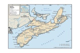Map of Nova Scotia Prints