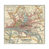 Map of Hamburg Print