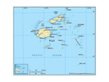 Map of Fiji Prints