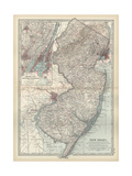 Map of New Jersey Prints