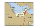 Map of United Arab Emirates Prints