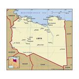 Map of Libya Plakater