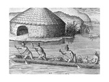 Native Americans Taking Crops to a Public Granary Prints