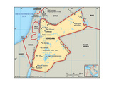 Map of Jordan Prints