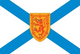 Flag of Nova Scotia, a Canadian Province Located on the Eastern Seaboard of North America Posters