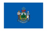 Maine State Flag Print