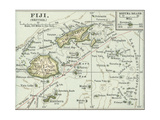 Map of Fiji Islands Prints