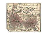 Map of Minneapolis, St. Paul and Minnesota Posters