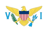 Flag of the U.S. Virgin Islands, an Unincorporated Island Territory of the United States Art