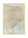 Map of Eastern Texas Prints