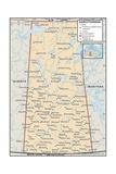 Political Map of Saskatchewan Prints