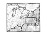 Map of the Great Lakes Region in 1816 Posters