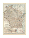 Map of Wisconsin Prints