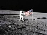 U.S. Flag on the Moon Fotodruck