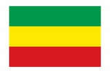 Historical Flag of Ethiopia, a Landlocked Country on the Horn of Africa, from 1991 to 1996 Prints