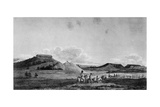 View of Tablelands at Foot of Rocky Mountains Poster