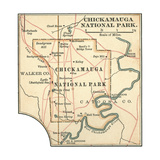 Map of Chickamauga National Park Prints